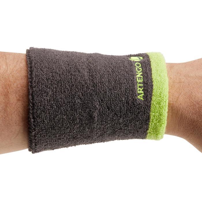 Schweissband Handgelenk Tennis grau/gelb