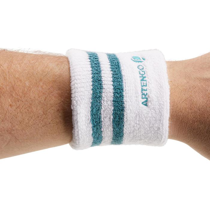 Polsband gestreept wit turquoise