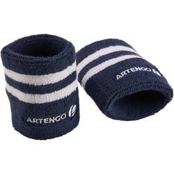 Wristband White/ Blue Stripes