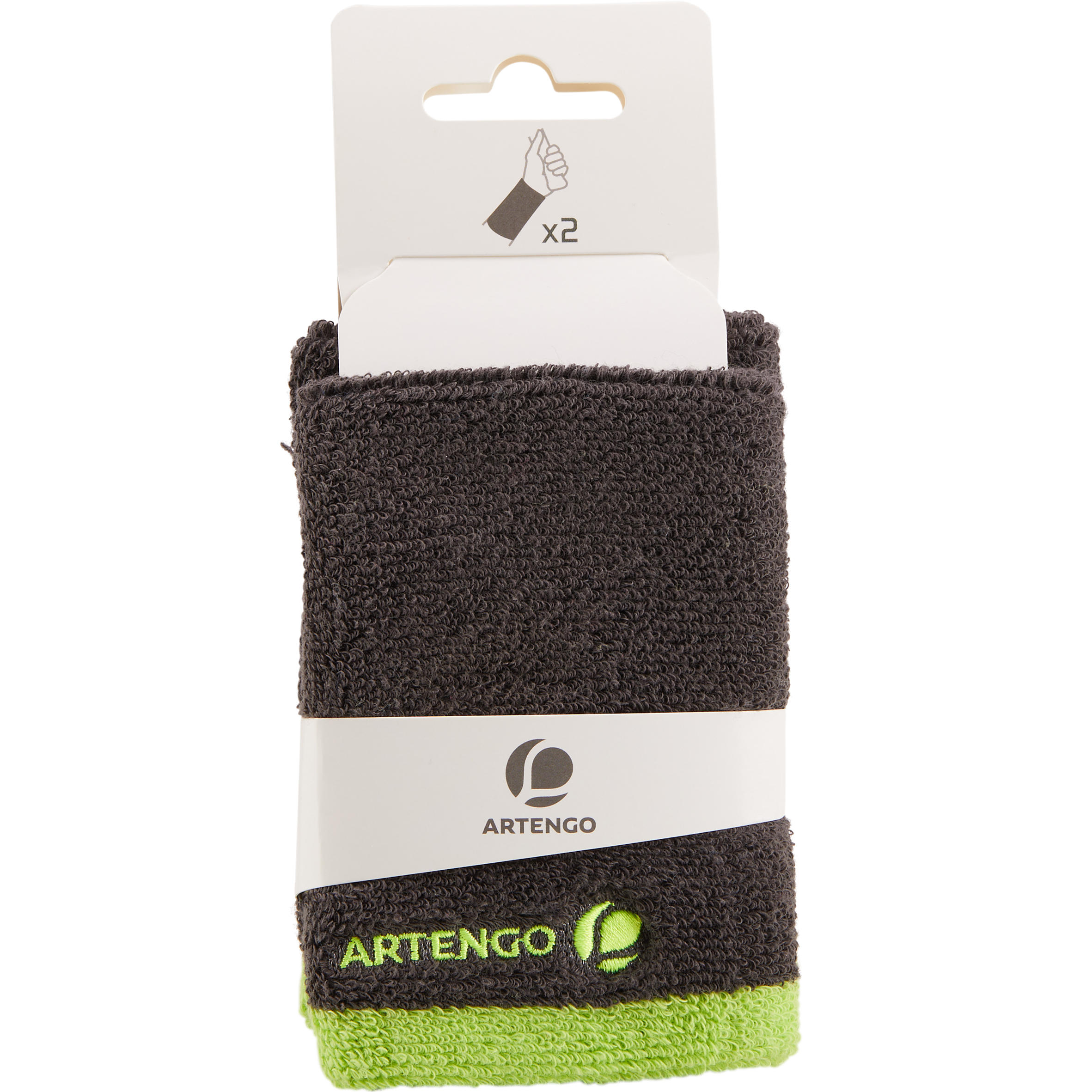 Long Wristband -Absorbent Grey/Yellow