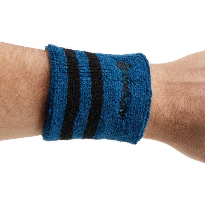 Polsband gestreept turquoise zwart