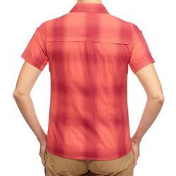 Camisa de manga corta TRAVEL 100 mujer coral