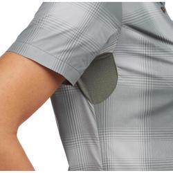 Camisa de manga corta TRAVEL 100 mujer Caqui