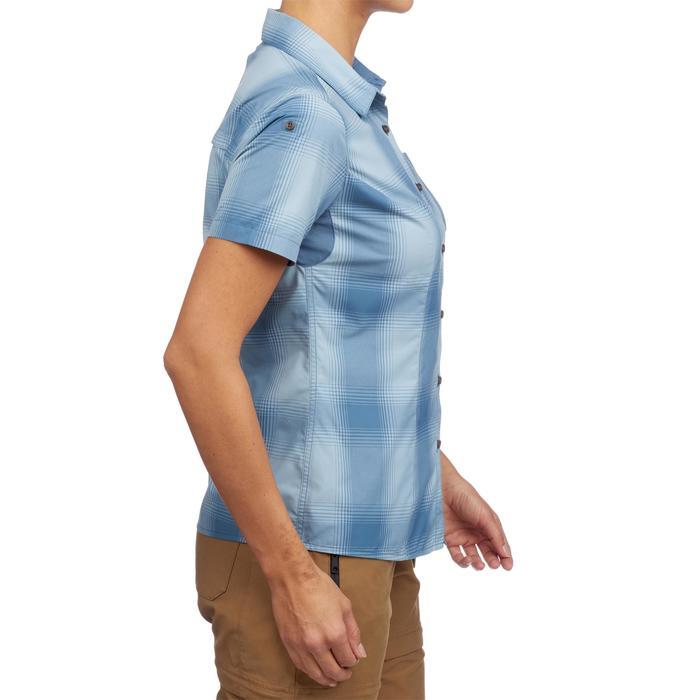 Camisa de manga corta TRAVEL 100 mujer Azul