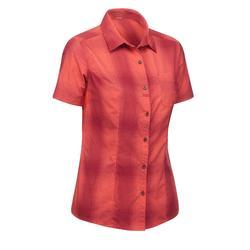 Chemises manches courtes TRAVEL 100 femme corail