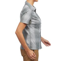 Damesblouse met korte mouwen Travel 100 kaki