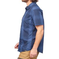 Travel 100 Fresh Men's Short-Sleeved Shirt - Blue Check