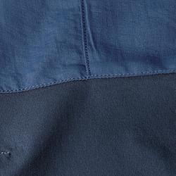 Men's blue mountain trekking trousers TREK500