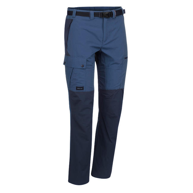 Men's Mountain Trekking Trousers -TREK 500 - Blue