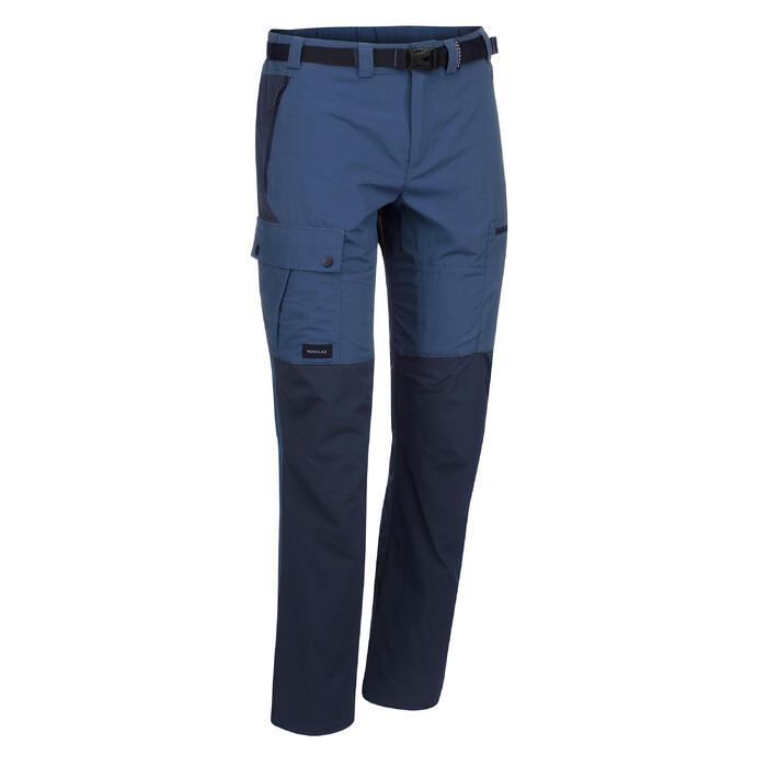 Pantalón de Montaña y Trekking Forclaz Trek 500 Hombre Azul