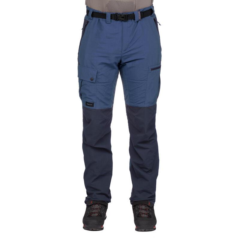 Men's blue mountain trekking trousers TREK500