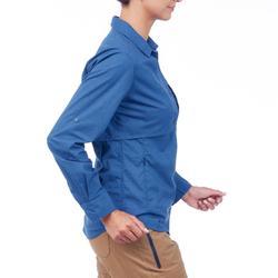 Bluse 2-in-1 Travel 500 Damen blau