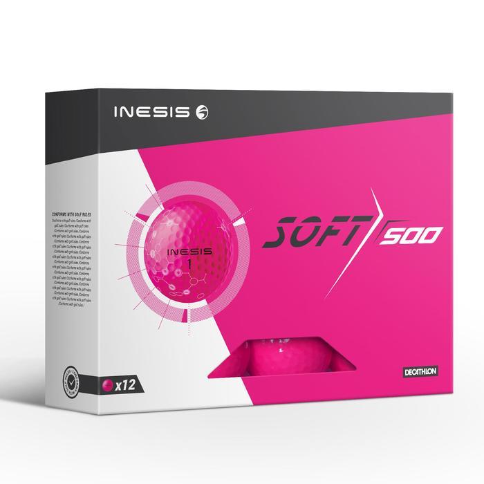 Balle de golf SOFT 500 X12 mat - 1330863