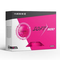 Golfbälle Soft 500 12 Stück rosa