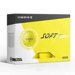 Soft 500 Golf Ball x12 - Yellow