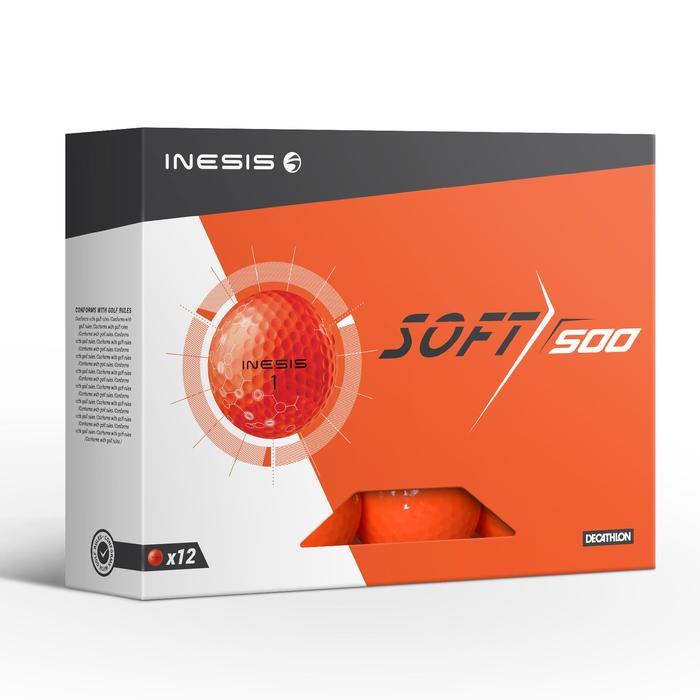 Balle de golf SOFT 500 X12 mat - 1330866