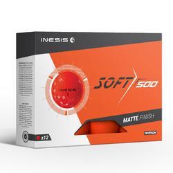 Golfballen Soft 500 x12 mat oranje