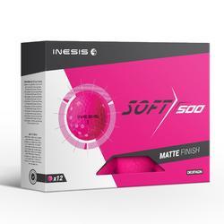 Golfballen Soft 500 x12 mat roze