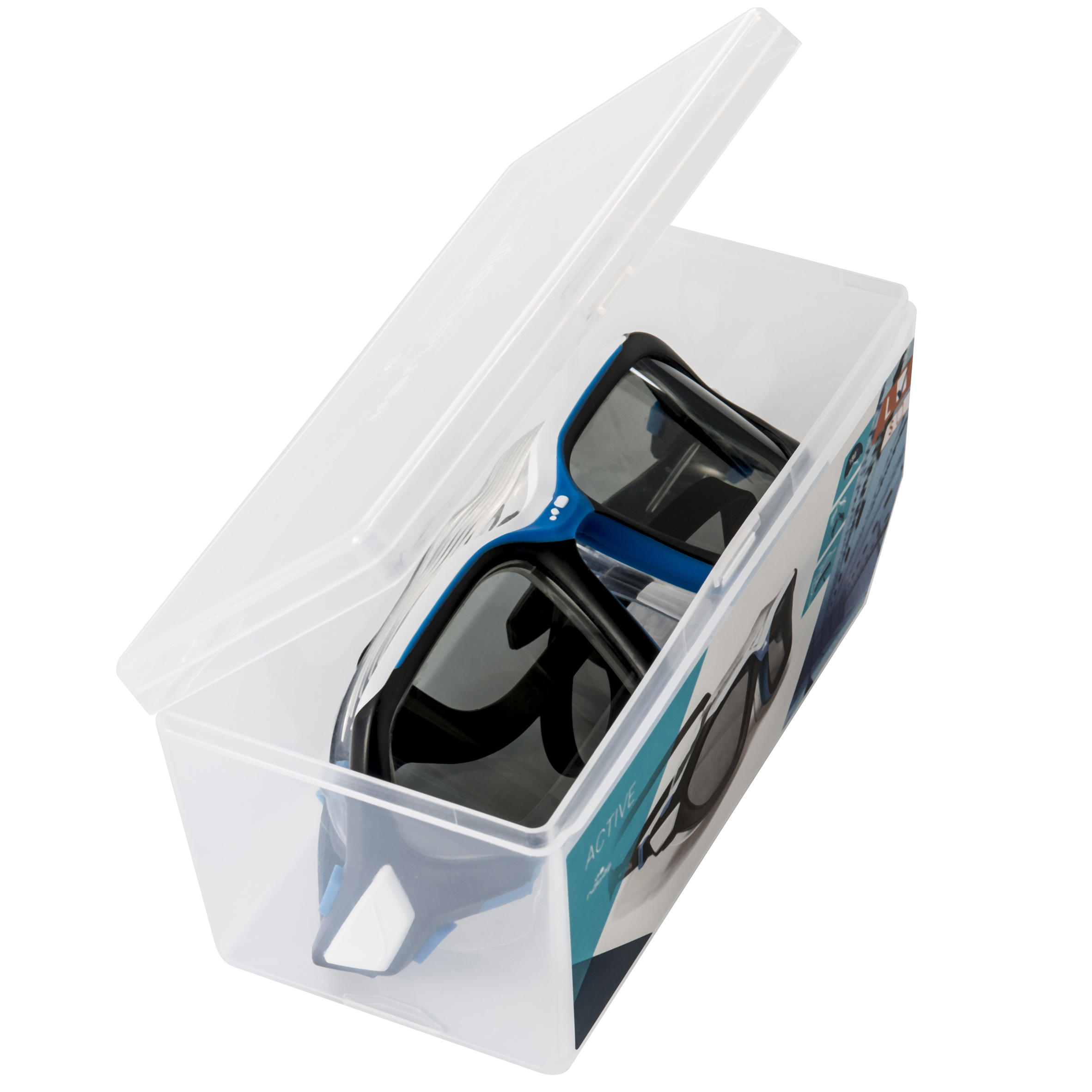 Active Swimming Mask Size S - White Blue