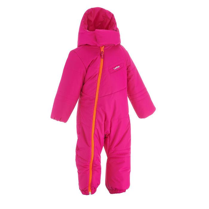 Combinaison pilote de ski / luge bébé warm rose