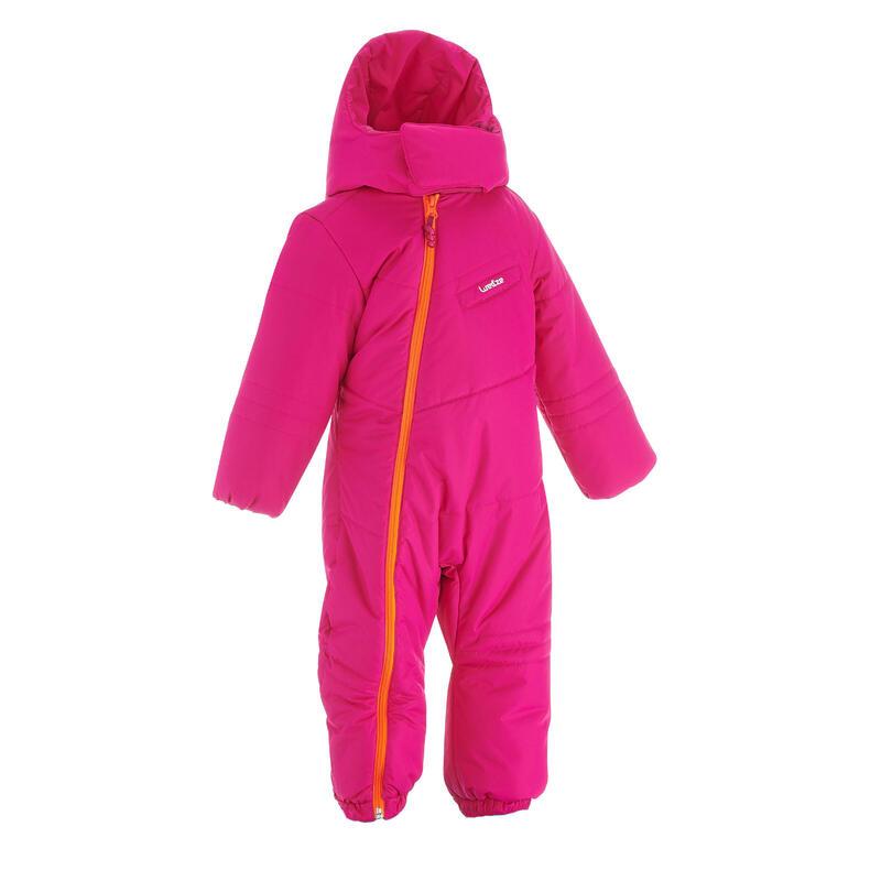 Babies' Ski/Sledge Snowsuit Warm - Pink