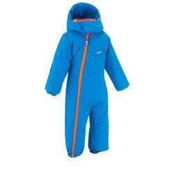 Combinaison pilote de ski / luge bébé warm bleu