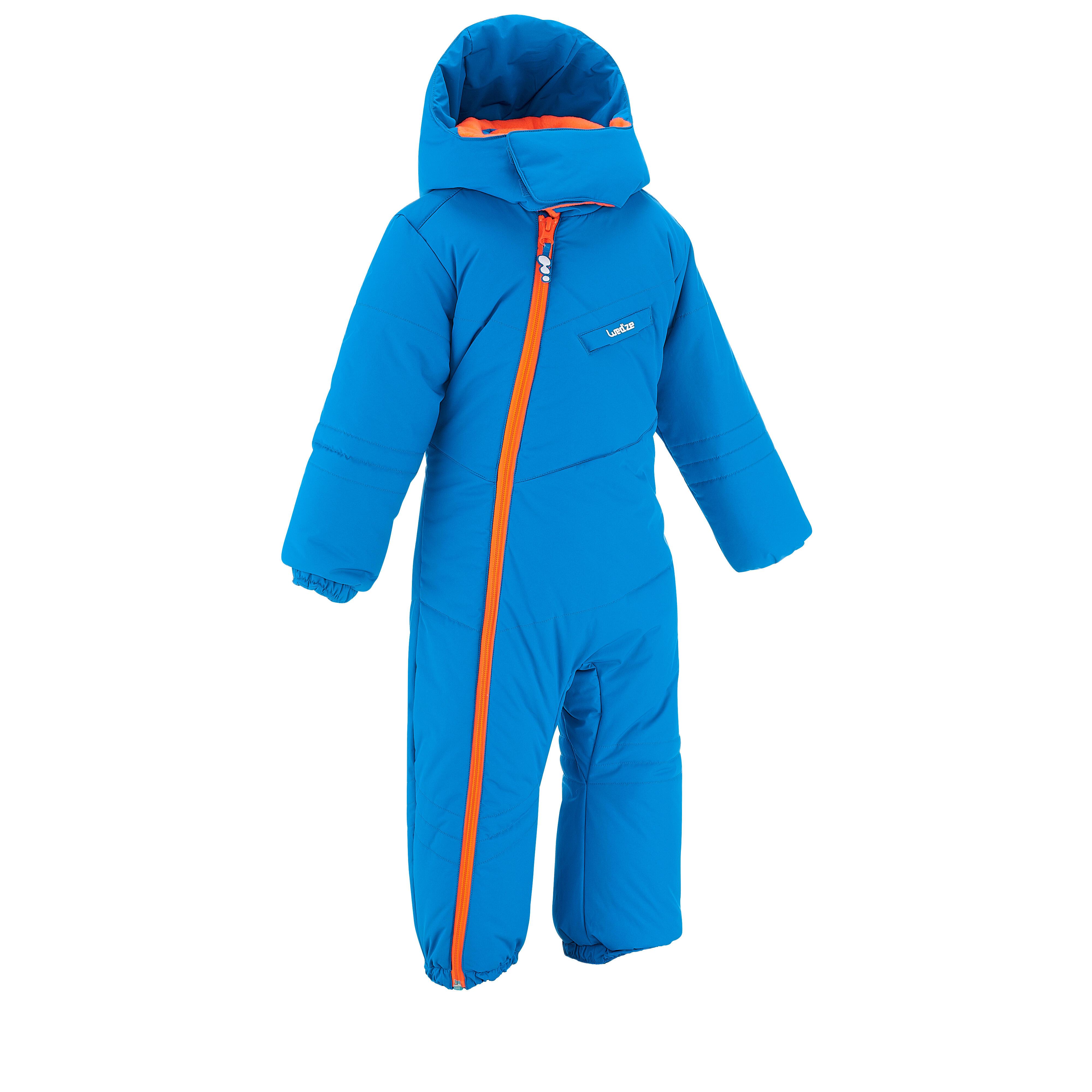 Wed'ze Sneeuwpak warm voor sleeën babyblauw thumbnail