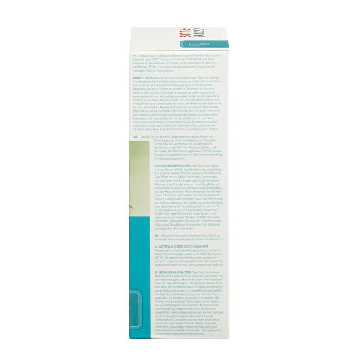 Spray répulsif anti-moustique CARE PLUS NATURAL 60ml - 1330985
