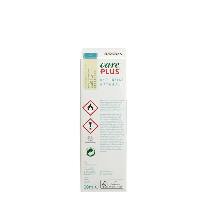 Spray répulsif anti-moustique CARE PLUS NATURAL 60ml - 1330987