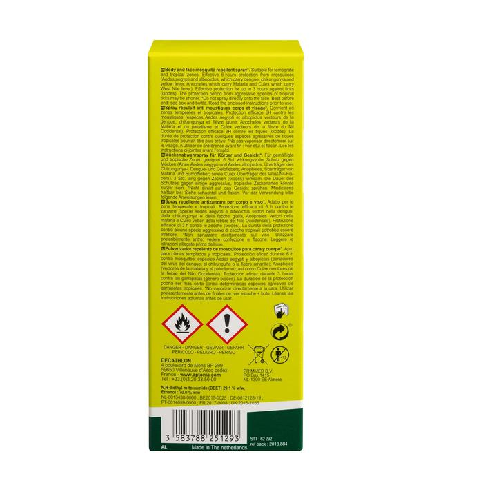 SPRAY ANTI-INSECTE APTONIA DEET 30% 100 ML