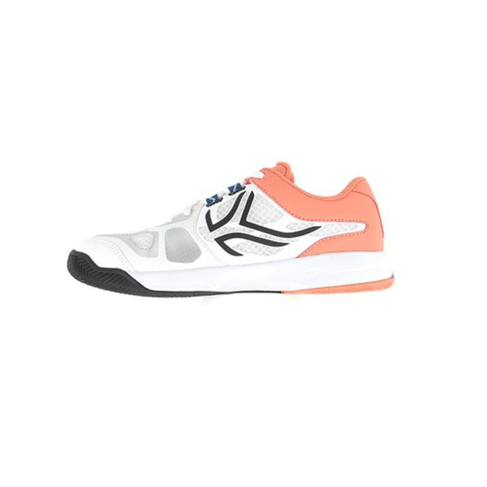 Padelschoenen PS560 voor dames wit koraal