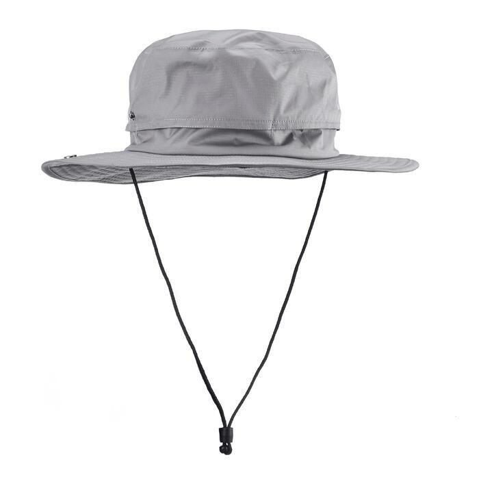Chapeau de Trekking Montagne TREK 900 imperméable gris foncé - 1331135