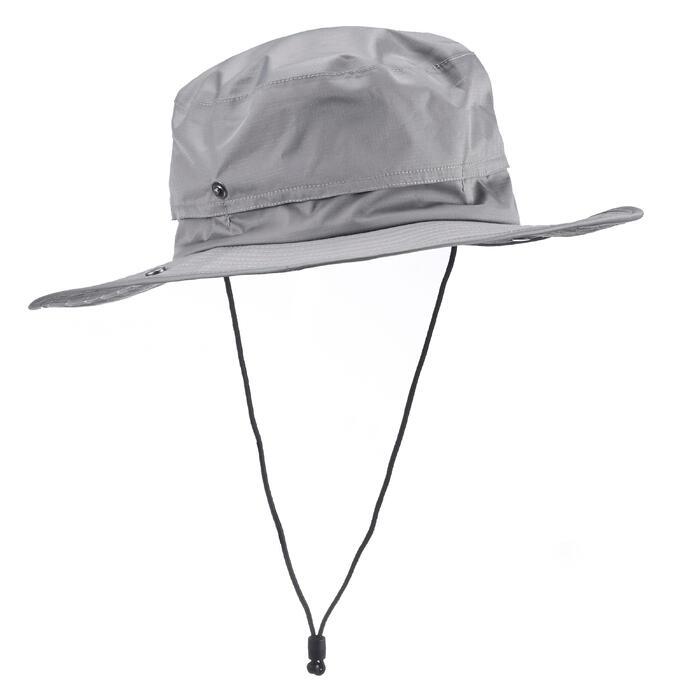 Chapeau de Trekking Montagne TREK 900 imperméable gris foncé - 1331142