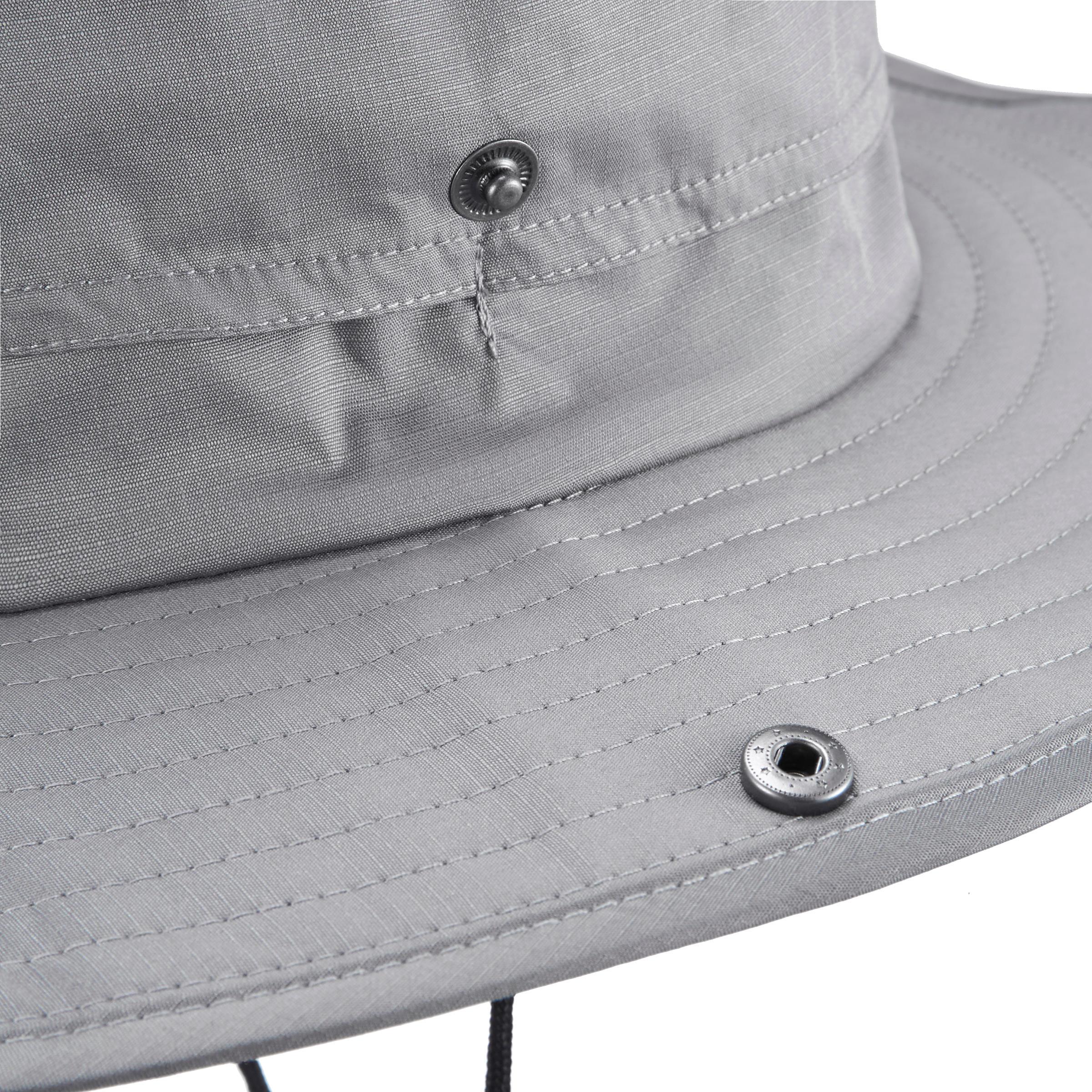 Mountain trekking hat TREK 900 waterproof light grey