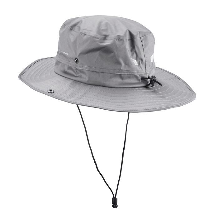 Chapeau de Trekking Montagne TREK 900 imperméable gris foncé - 1331146