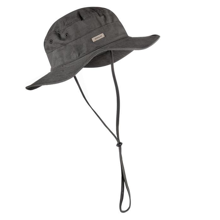 Sombrero de trekking en montaña TREK 100 marrón Forclaz  22a781c0c6b