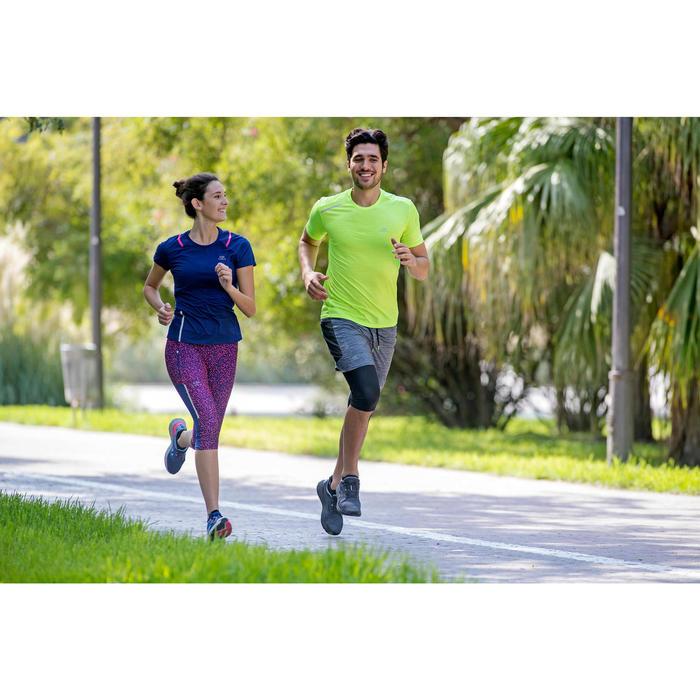 男款跑步T恤RUN DRY+ - 灰色印花