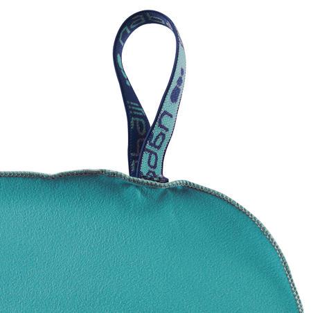Swimming Microfibre Towel Size L 80 x 130 cm - Blue