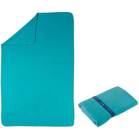 Toalla Microfibra Azul Compacta Talla G 80 x 130Cm