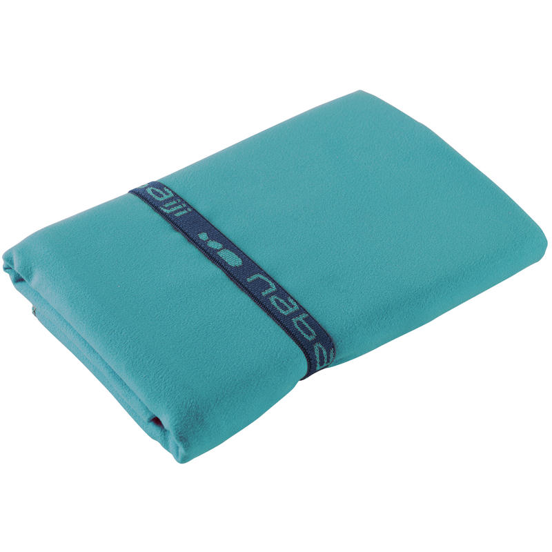 Toalla de microfibra azul ultracompacta talla XL 110 x 175 cm