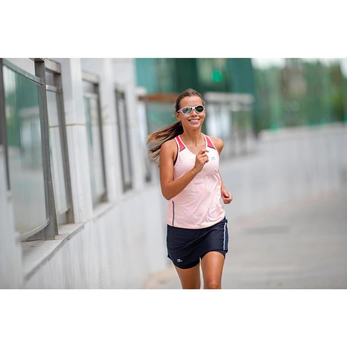 Lunettes de running adulte JOG 500  gris rose catégorie 3 - 1331236