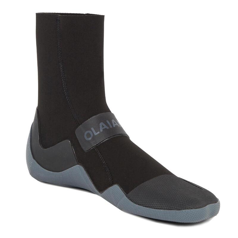 3 mm Neoprene Surf Boots 500 - Black