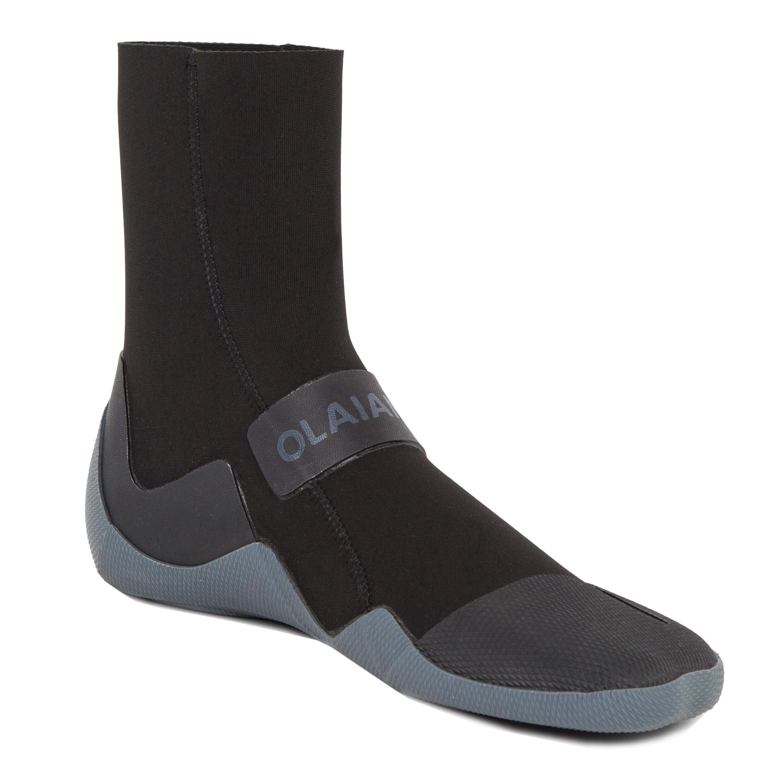 Zapatos acuáticos Surf 500 con suela neopreno 3 mm negro