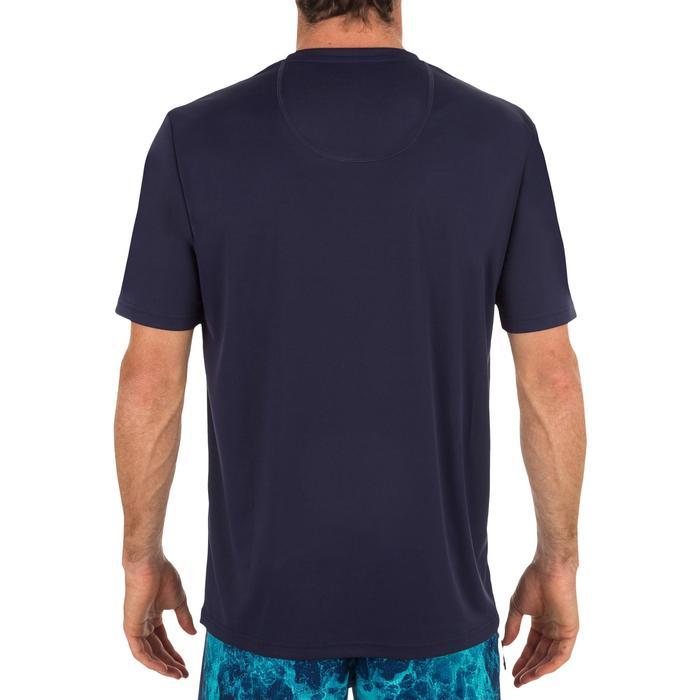 男款抗UV衝浪T恤-印花藍色