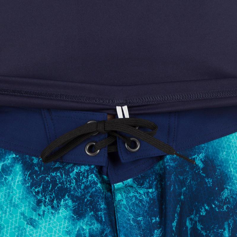 เสื้อผู้ชายป้องกันรังสียูวี (สีน้ำเงินพิมพ์ลาย)