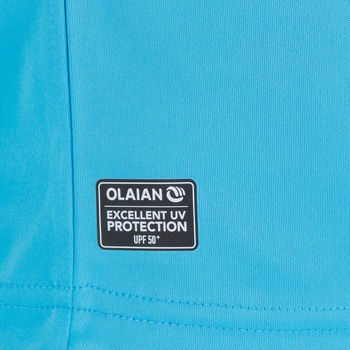 Children's short-sleeved UV-protection surfing water T-shirt - Blue print - 1331286