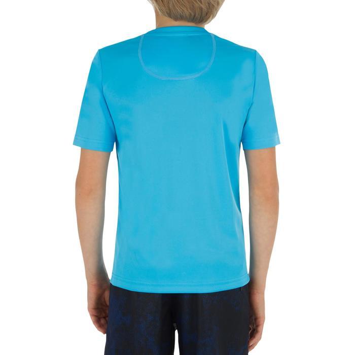 Children's short-sleeved UV-protection surfing water T-shirt - Blue print - 1331288