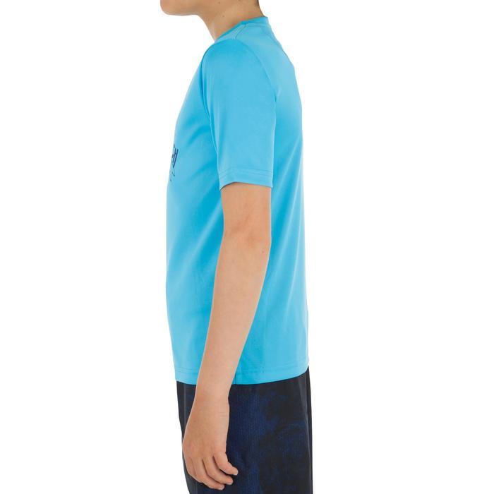 Children's short-sleeved UV-protection surfing water T-shirt - Blue print - 1331290
