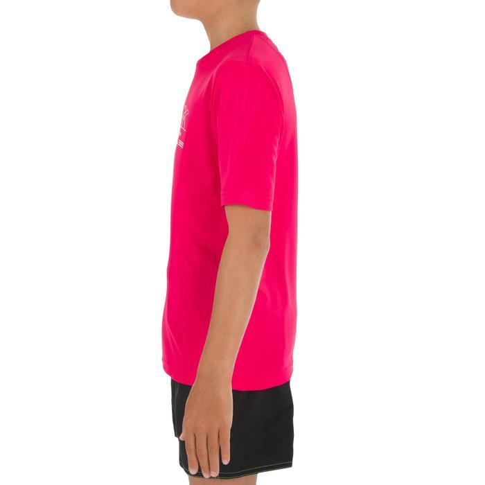 Children's short-sleeved UV-protection surfing water T-shirt - Blue print - 1331311