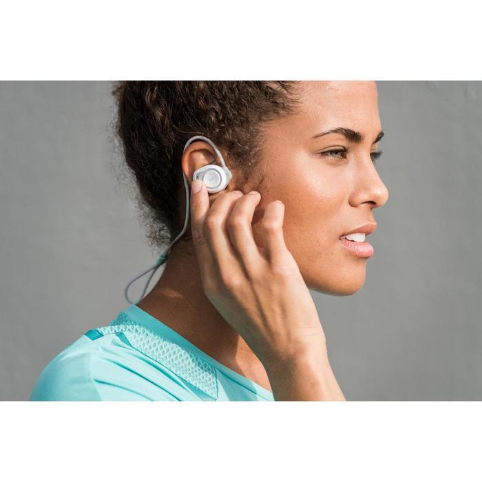 Auriculares Inalámbricos Bluetooth Running Kalenji Onear 500 Blanco/Gris/Verde